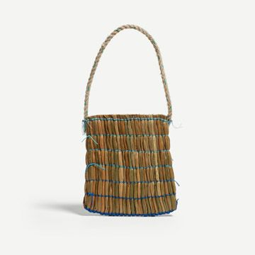 Sea Scape Ruched Rush Bag