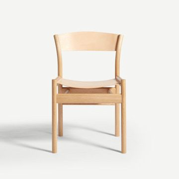 Natural Oak Side Chair in Nude