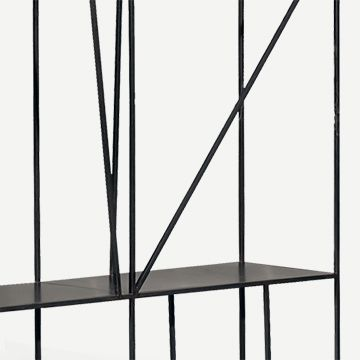 Staiths Shelving Unit in Patinated Steel