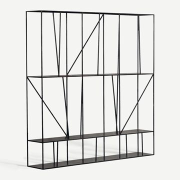 Staiths Shelving Unit in Patinated Steel by Novocastrian