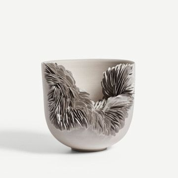 Grey Tall Collapsed Bowl III