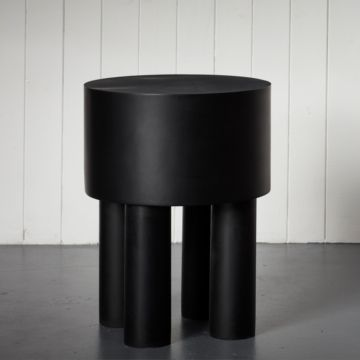 Pilotis Side Table (4 Legs) (Black) by Malgorzata Bany