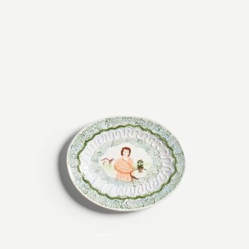 Auricula and Horse Romantic Platter