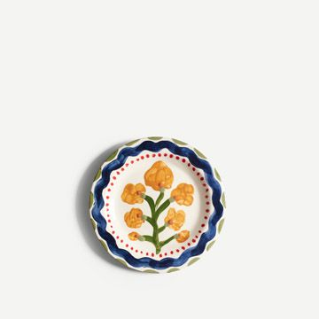 Yellow Flower Round Plate (Small)