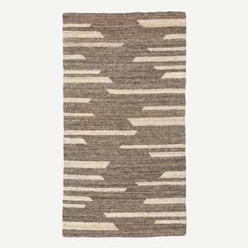 Soft Grey Wool Rug