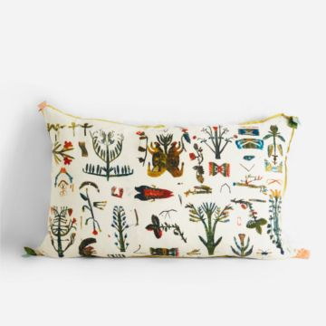 White Meadowland Cushion by Rose de Borman
