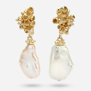 Pearl and Diamond Encrusted Drops
