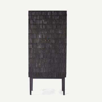Scorched Shake Cabinet by Sebastian Cox