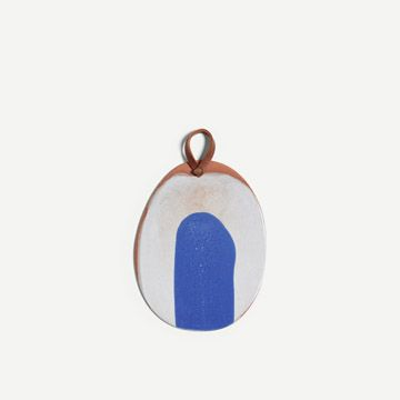 Small Platter with Handle (Cobalt)
