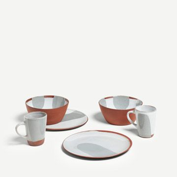 Terracotta Breakfast Set for Two (Grey)