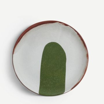 Terracotta Medium Plate (Dark Green)