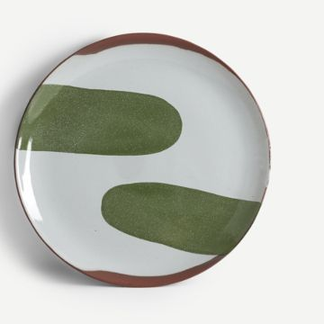 Terracotta Large Plate (Dark Green)