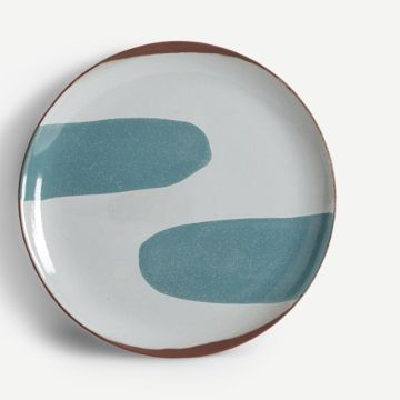 Terracotta Large Plate (Teal)