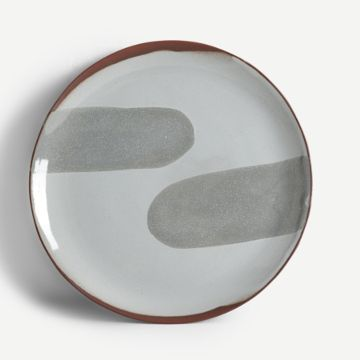 Terracotta Large Plate in Grey