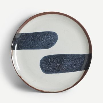 Terracotta Large Plate (Navy)