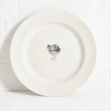 'Flower Urn' Porcelain Dinner Plate by John Julian & Laura Carlin