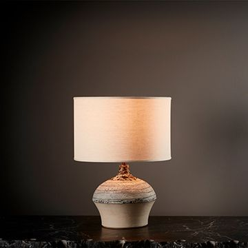 Ganymede Table Lamp (Medium) (Linen) by The New Craftsmen
