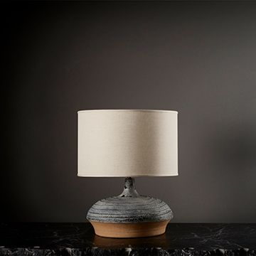 Ganymede Table Lamp (Wide) (Linen) by The New Craftsmen