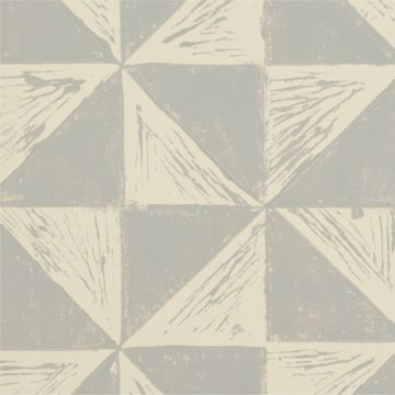 Hand Printed Wallpaper Roll (Windmill) (Nimbus Grey) by Peggy Angus