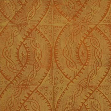Hand Printed Wallpaper Roll (Twist) (Topaz Yellow) by Peggy Angus
