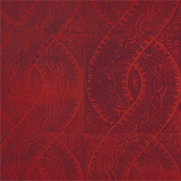 Hand Printed Wallpaper Roll (Twist) (Garnet Red) by Peggy Angus