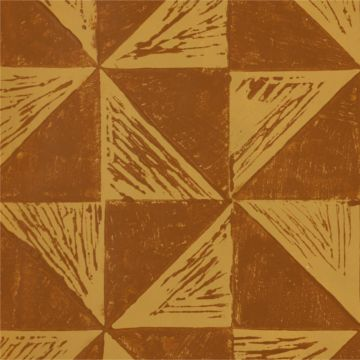 Hand Printed Wallpaper Roll (Windmill - Inverse) (Topaz Yellow) by Peggy Angus