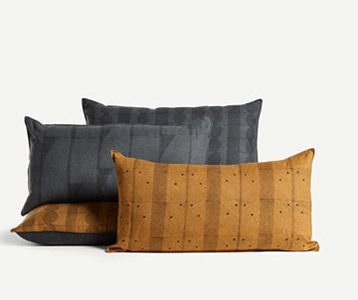 Game Line Cushion in Mustard
