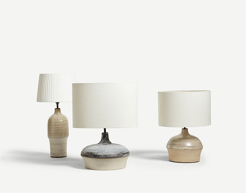 Cream Ganymede Table Lamp (Tall)