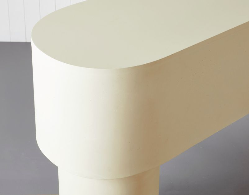 Pilotis Console Table (White) by Malgorzata Bany