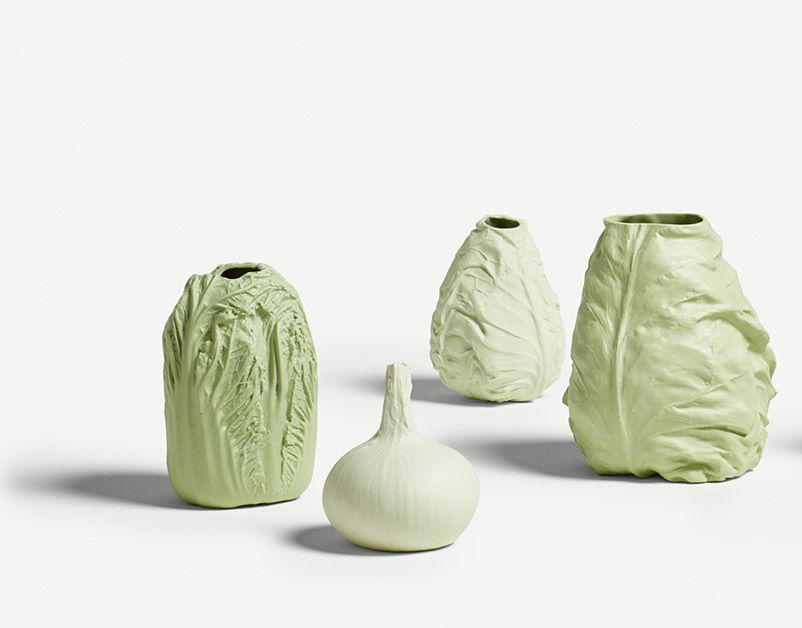 Pale Green Sweetheart Cabbage Vase (Large)