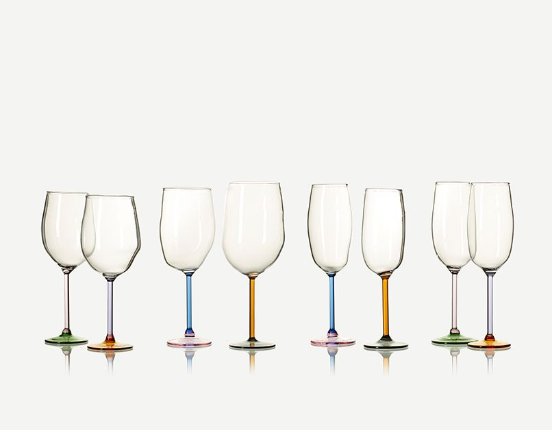 Incalmo Wine Glass (Blue and Pink)
