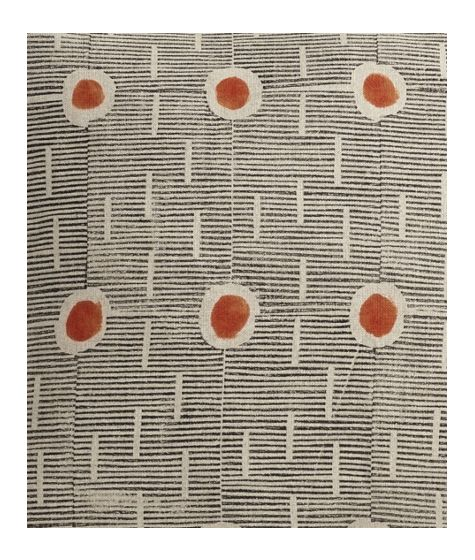 Hand Block-Printed Cushion (Saffron Spot) by The New Craftsmen