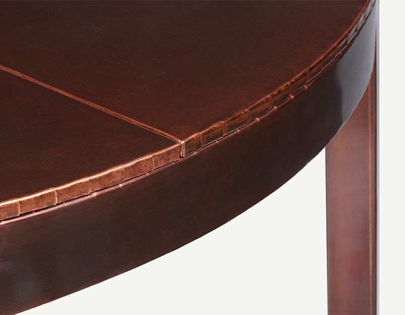 Round Articulate Dining Table (Copper)