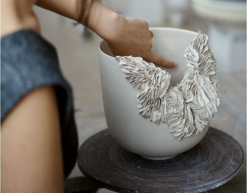 Grey Open Nest Tea Bowl