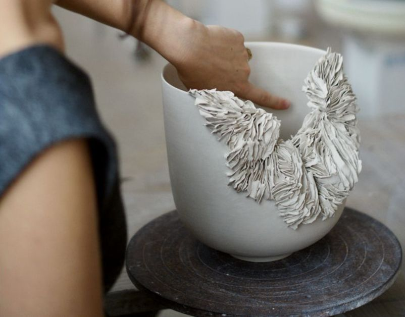 Wide Textured Bowl
