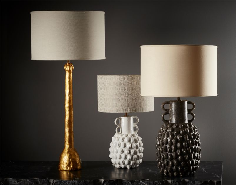 Large Guardian Table Lamp (Black) (Linen) by The New Craftsmen