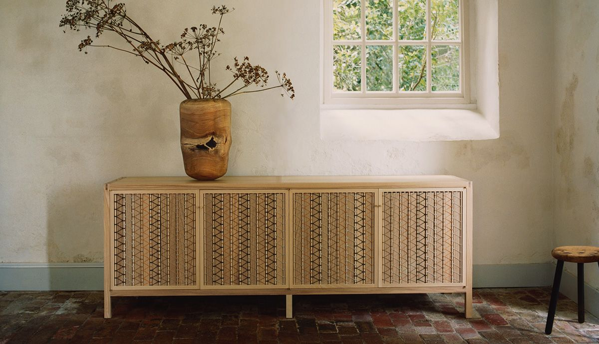 Stitched Sideboard in Ash & Natural Cord