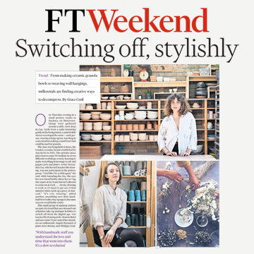 FT Weekend: Switching off, stylishly