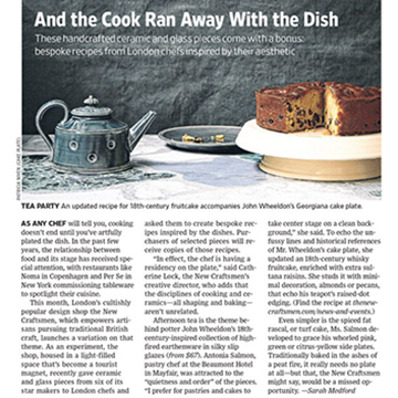 Wall Street Journal: The Ideal Gift for a Cook?