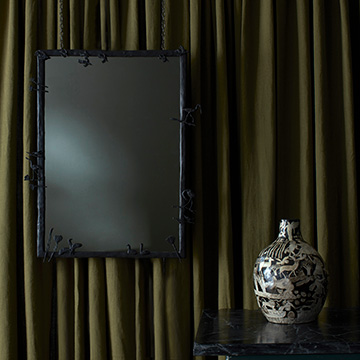 Midwinter Mirror and Vessels by Laura Carlin