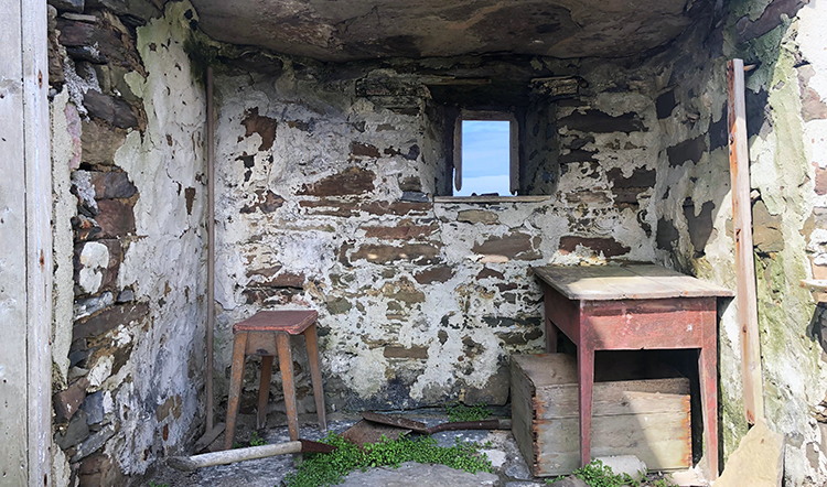 Orkney cottages are traditionally made from stone, one of few natural resources available