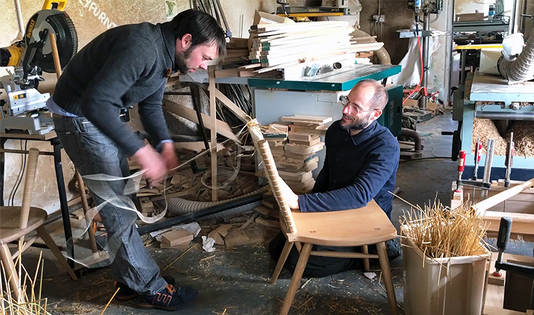 Kevin Gauld and Gareth Neal work on their new Brodgar Dining Chair