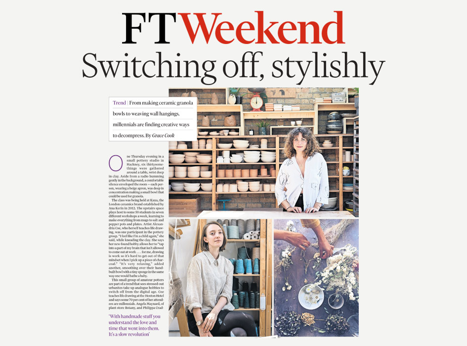 Press, FT Weekend: Switching off, stylishly