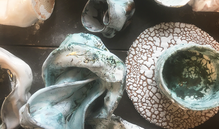 Norwegian ceramicist Heide Bjorgen experiments with form and finish for her distinctive pieces