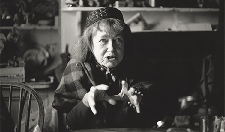 Peggy was rarely seen without her trademark fez. (Photography by James Ravilious, copyright of Robin Ravilious)