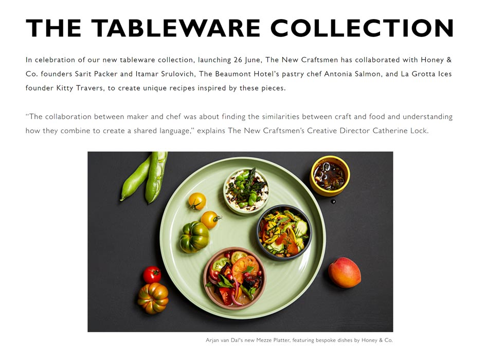News, The Tableware Collection