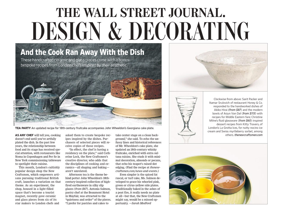 Press, The Wall Street Journal: Design & Decorating