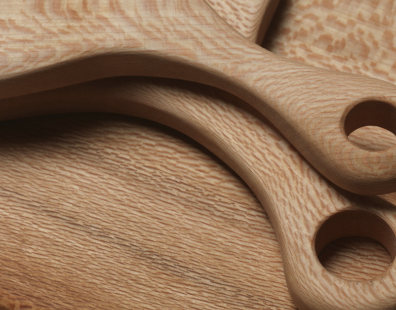 Hampson Woods, Wood Board Detail, The New Craftsmen